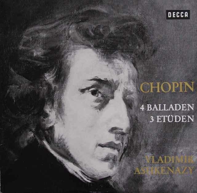 アシュケナージのショパン/バラード&練習曲 独DECCA 3138 LP レコード