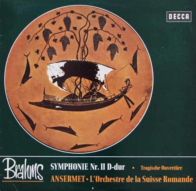 アンセルメのブラームス/交響曲第2番ほか 独DECCA 3138 LP レコード