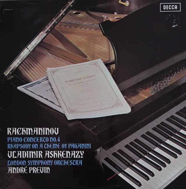 【オリジナル盤】 アシュケナージ&プレヴィンのラフマニノフ/ピアノ協奏曲第4番ほか 英DECCA 3138 LP レコード