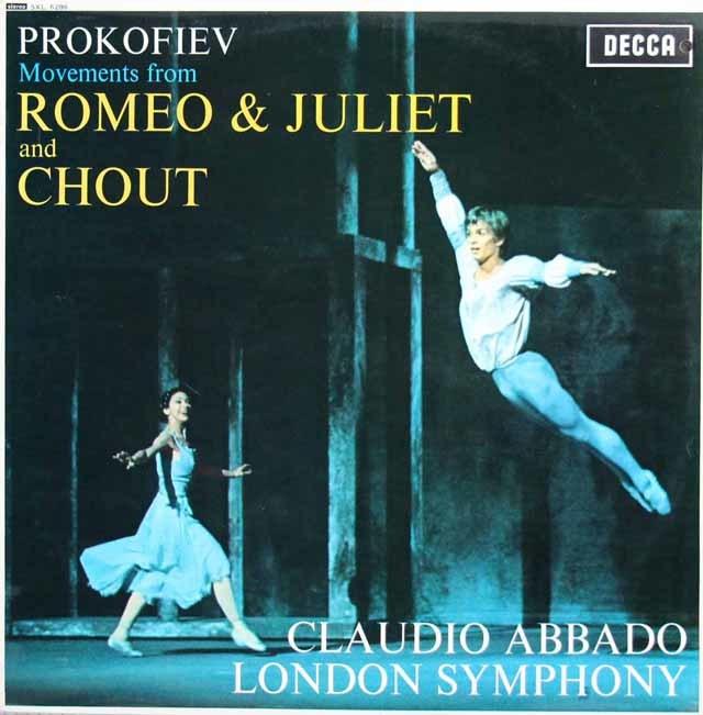 アバドのプロコフィエフ/「ロミオとジュリエット」、「道化師」抜粋 英DECCA 3138 LP レコード