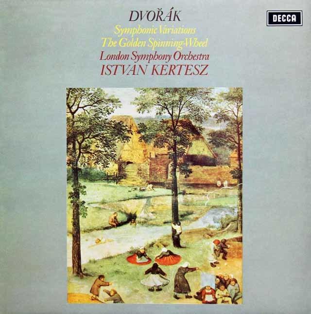 【オリジナル盤】ケルテスのドヴォルザーク/交響的変奏曲ほか 英DECCA 3138 LP レコード