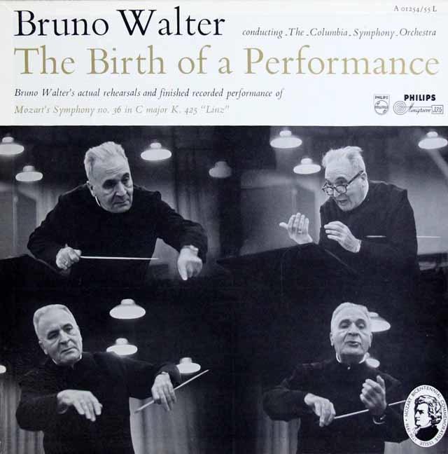 ワルターの「リンツ交響曲の誕生」(モーツァルト/交響曲第36番「リンツ」とそのリハーサル風景) 蘭Philips 3138 LP レコード