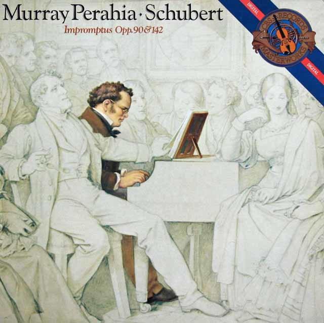 ペライアのシューベルト/即興曲 作品90、作品142 独CBS 3138 LP レコード