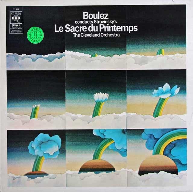 ブーレーズのストラヴィンスキー/「春の祭典」 英CBS 3138 LP レコード