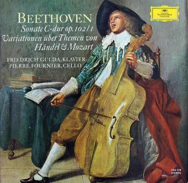 フルニエ&グルダのベートーヴェン/チェロソナタ第4番ほか 独DGG 3138 LP レコード