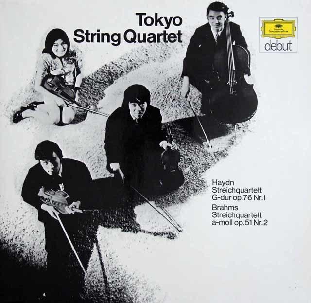 東京クヮルテットのハイドン&ブラームス/弦楽四重奏曲集 独DGG 3138 LP レコード