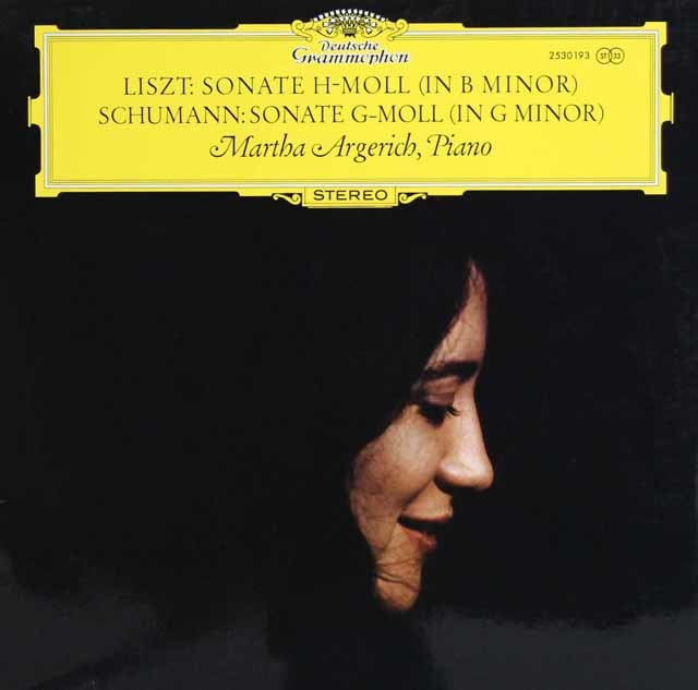 アルゲリッチのリスト&シューマン/ピアノソナタ  独DGG 3138 LP レコード
