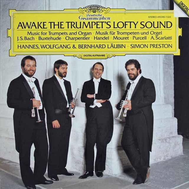 ロイビン兄弟&プレストンらの「トランペットとオルガンのための音楽集」  独DGG 3138 LP レコード