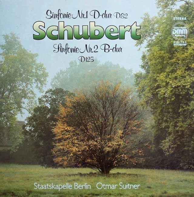スウィトナーのシューベルト/交響曲第1&2番 独ETERNA 3138 LP レコード