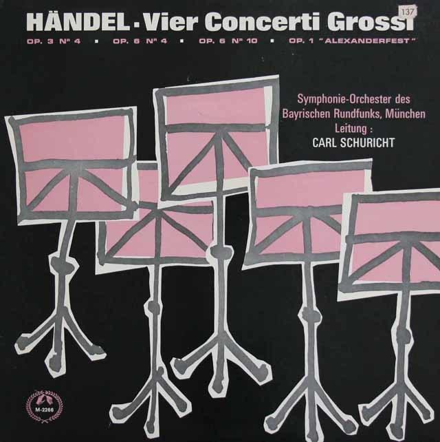 シューリヒトのヘンデル/合奏協奏曲集 英MMS 3138 LP レコード