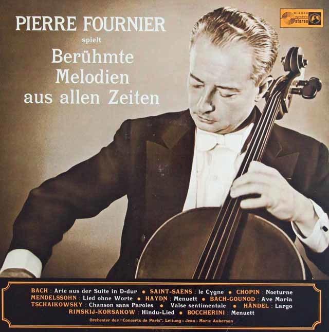 フルニエのバッハ/「G線上のアリア」ほかチェロ小品集 独CH 3138 LP レコード