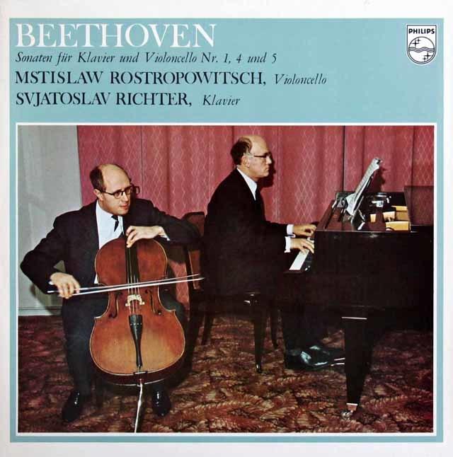 ロストロポーヴィチ&リヒテルのベートーヴェン/チェロソナタ全集 蘭PHILIPS 3138 LP レコード