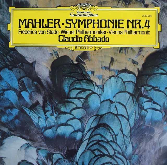 アバドのマーラー/交響曲第4番 独DGG 3139 LP レコード