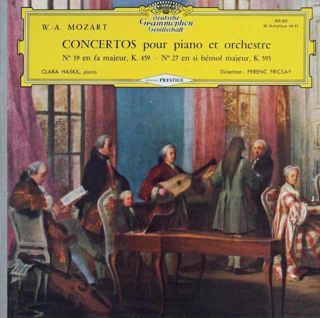 ハスキル&フリッチャイのモーツァルト/ピアノ協奏曲第19&27番 仏DGG 3139 LP レコード