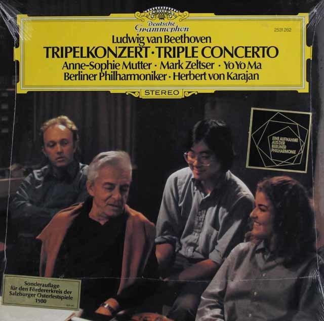 【未開封】ムター、ゼルツァー、マ&カラヤンのベートーヴェン/三重協奏曲 独DGG 3139 LP レコード