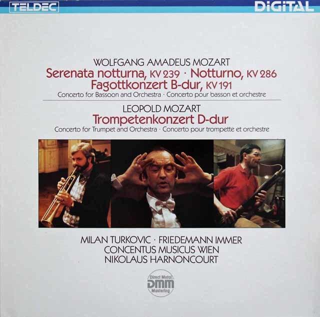 アーノンクールのモーツァルト/セレナーデ第6番「セレナータ・ノットゥルナ」ほか 独TELDEC 3139 LP レコード