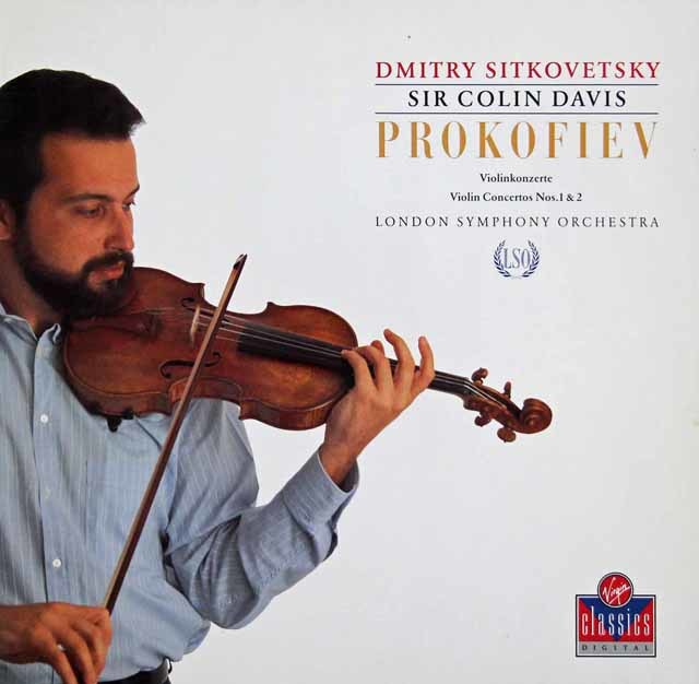 シトコヴェツキー&デイヴィスのプロコフィエフ/ヴァイオリン協奏曲第1&2番 独Virgin 3139 LP レコード