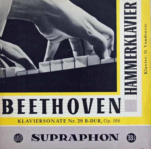 ヴォンドロヴィックのベートーヴェン/ピアノソナタ第29番「ハンマークラヴィーア」 チェコSUPRAPHON 3139 LP レコード
