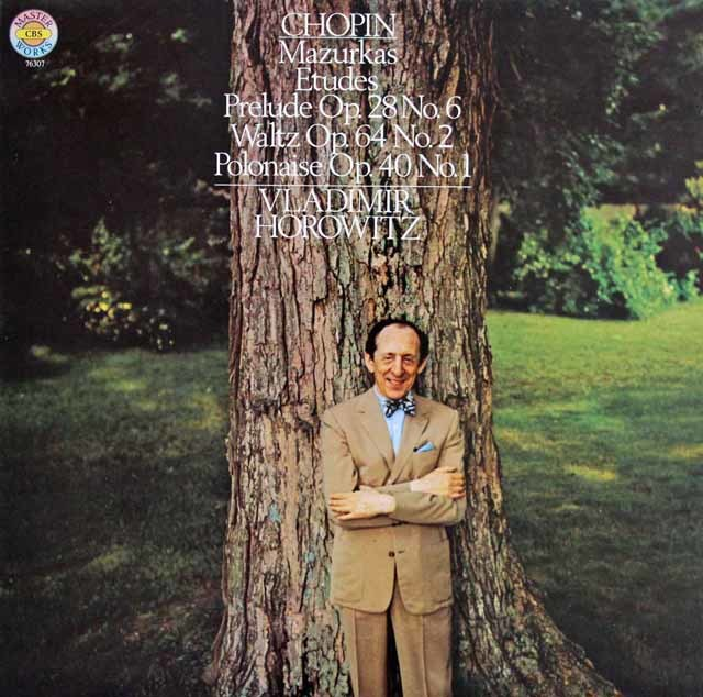 ホロヴィッツのショパン/マズルカ&エチュードほか  独CBS 3139 LP レコード