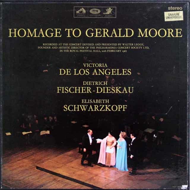 アンヘレス、ディースカウ&シュヴァルツコップらのジェラルド・ムーア/引退コンサート 英EMI 3139 LP レコード