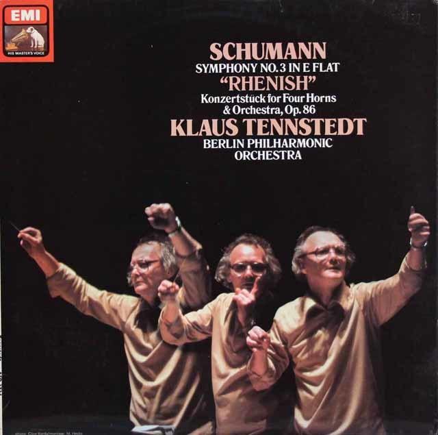 【オリジナル盤】テンシュテットのシューマン/交響曲第3番「ライン」ほか 英EMI 3139 LP レコード