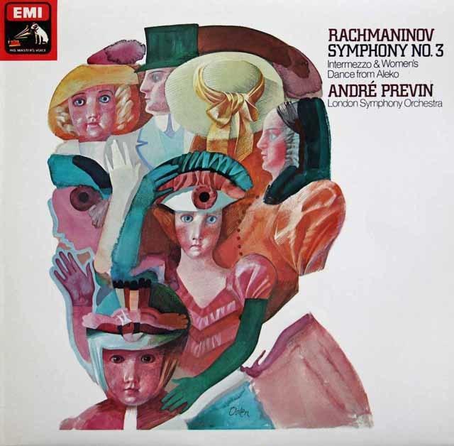 【オリジナル盤】プレヴィンのラフマニノフ/交響曲第3番ほか 英EMI 3139 LP レコード