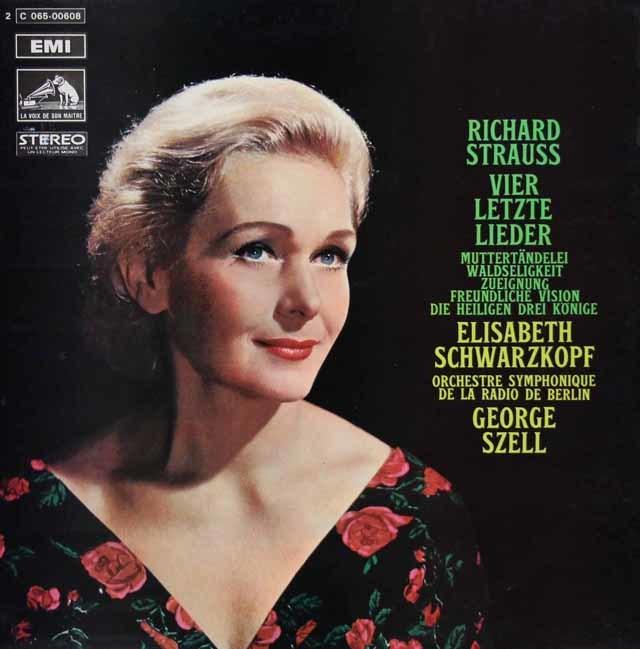 シュヴァルツコップ&セルのR.シュトラウス/4つの最後の歌ほか 仏EMI 3139 LP レコード