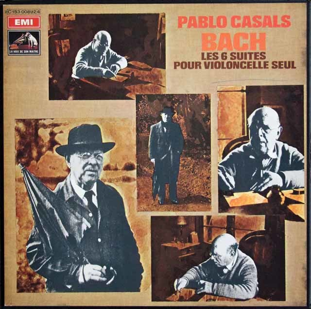 カザルスのバッハ/無伴奏チェロ組曲全集 仏EMI(VSM) 3139 LP レコード