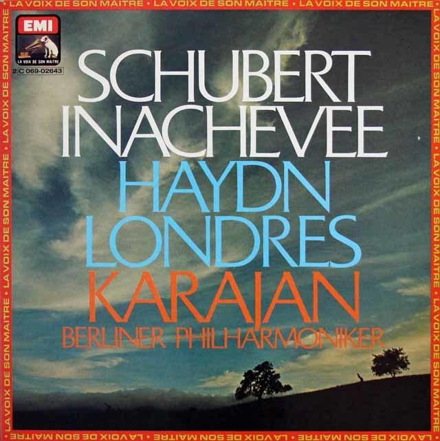 カラヤンのシューベルト/「未完成」&ハイドン/「ロンドン」 仏EMI(VSM) 3139 LPレコード