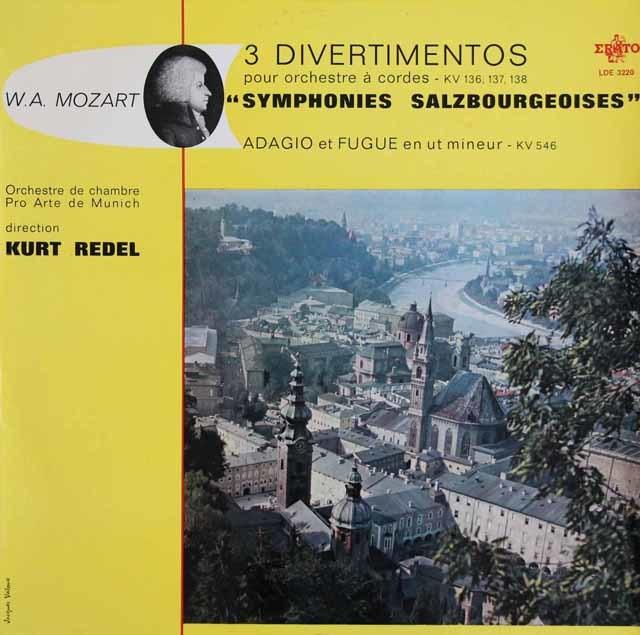 レーデルのモーツァルト/ディヴェルティメント K.136、137 & 138 仏ERATO 3139 LP レコード