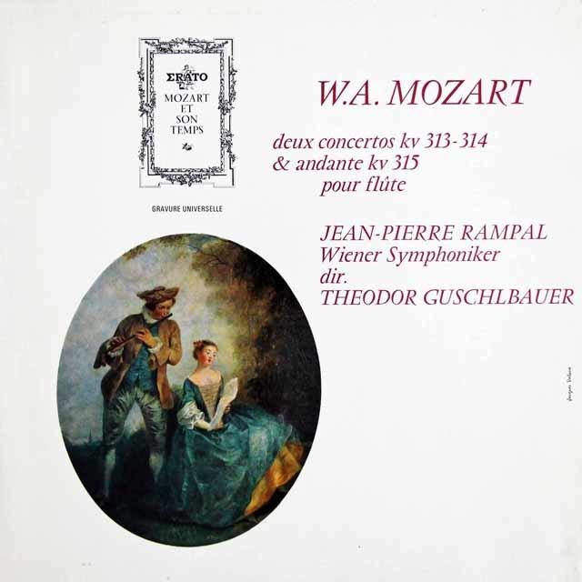 ランパル&グシュルバウアーのモーツァルト/フルート協奏曲第1&2番 仏ERATO 3139 LP レコード