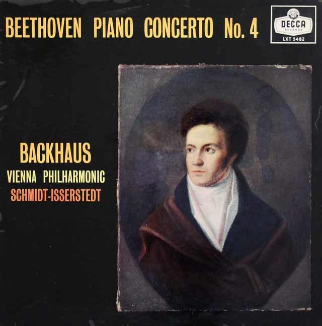 バックハウス&イッセルシュテットのベートーヴェン/ピアノ協奏曲第4番 英DECCA 3139 LP レコード