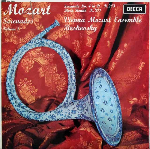 【オリジナル盤】ボスコフスキーのモーツァルト/セレナーデ第4番ほか 英DECCA 3139 LP レコード
