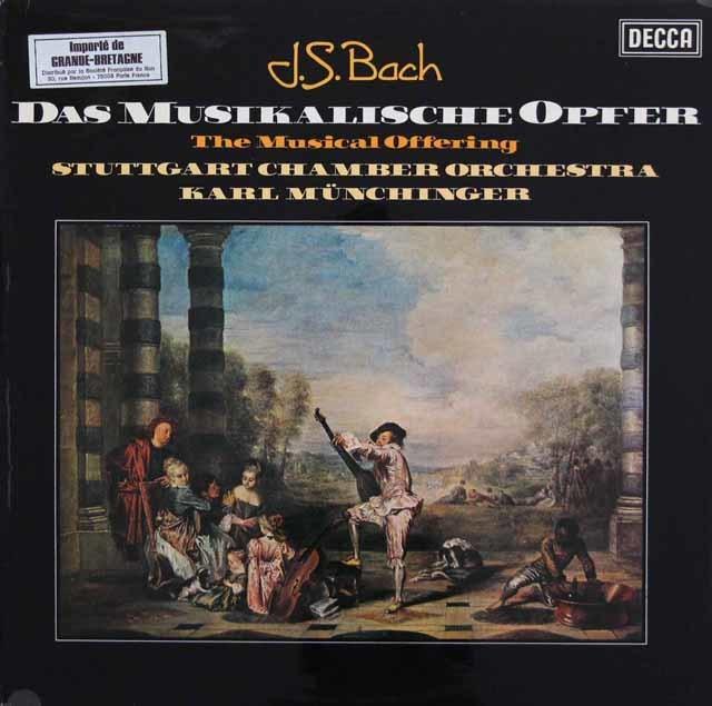 【オリジナル盤】ミュンヒンガーのバッハ/「音楽の捧げもの」 英DECCA 3139 LP レコード