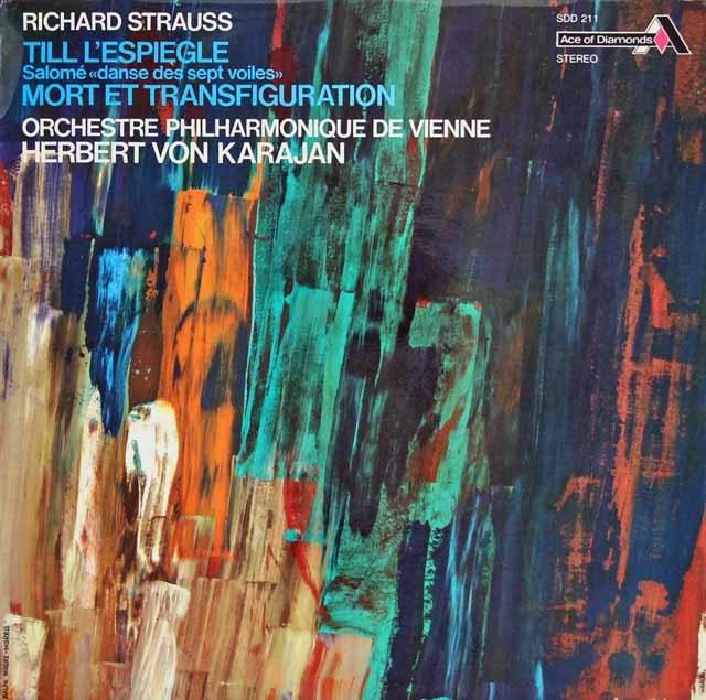 カラヤンのR.シュトラウス/「ティル」、「死と変容」&「サロメ」 仏Ace of Diamonds (DECCA) 3139 LP レコード