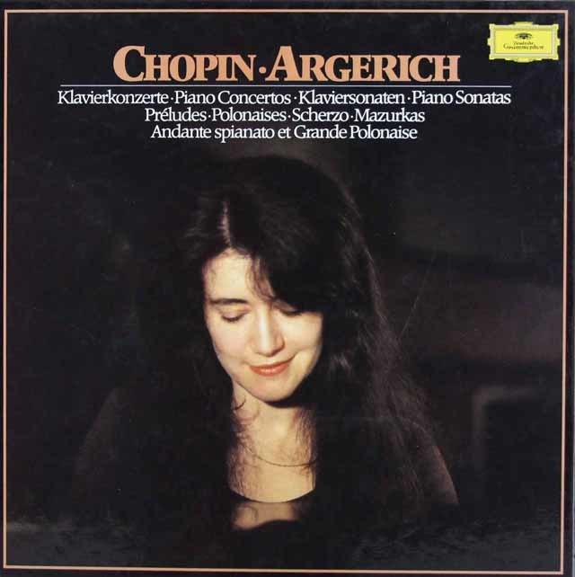 アルゲリッチのショパン/ピアノ曲集  独DGG 3139 LP レコード