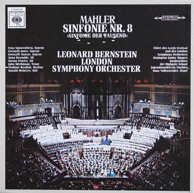 バーンスタインのマーラー/交響曲第8番「千人の交響曲」 独CBS 3139 LPレコード