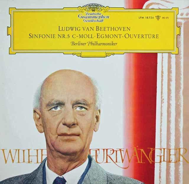 【オリジナル盤】 フルトヴェングラーのベートーヴェン/交響曲第5番「運命」ほか 独DGG 3140 LP レコード