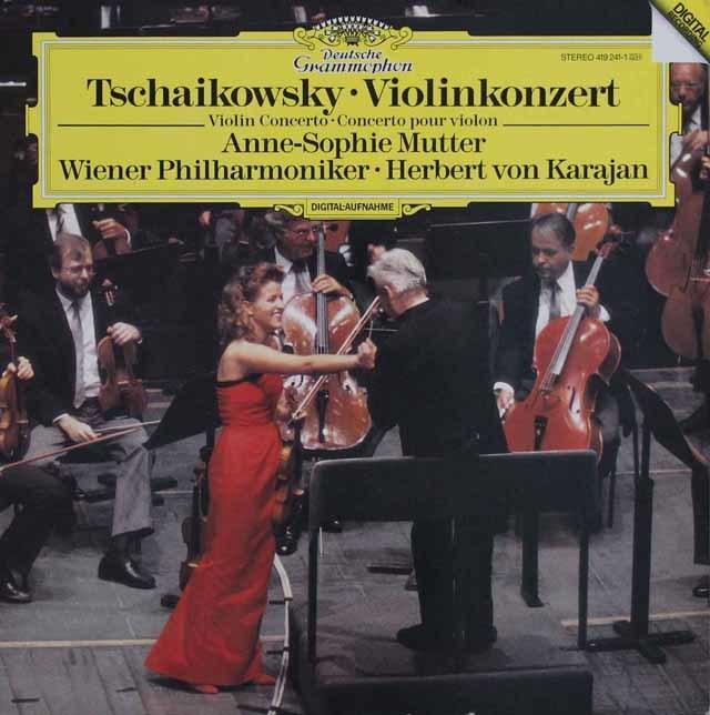 ムター&カラヤンのチャイコフスキー/ヴァイオリン協奏曲 蘭DGG 3140 LP レコード