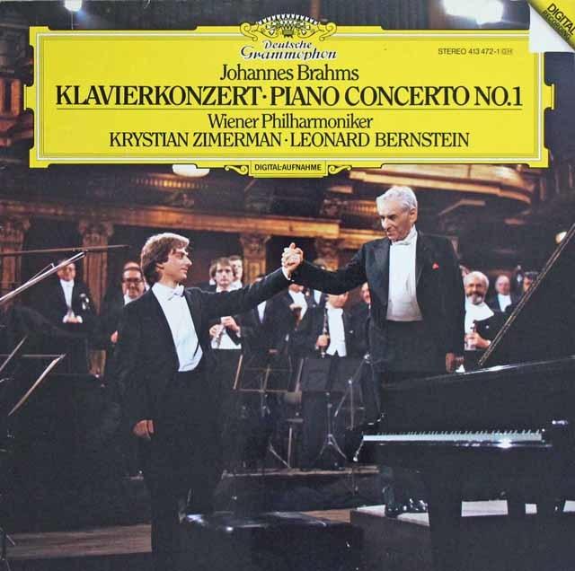 ツィンマーマン&バーンスタインのブラームス/ピアノ協奏曲第1番 独DGG 3140 LP レコード