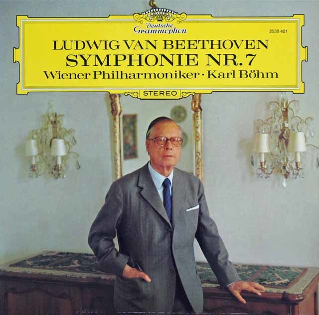 ベームのベートーヴェン/交響曲第7番 独DGG 3140 LP レコード