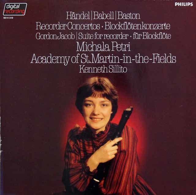 ペトリのリコーダー協奏曲集 蘭PHILIPS 3140 LP レコード