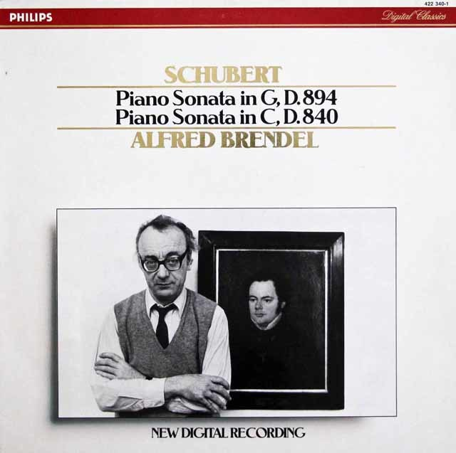 ブレンデルのシューベルト/ピアノソナタ第15&18番「幻想」 蘭PHILIPS 3140 LP レコード
