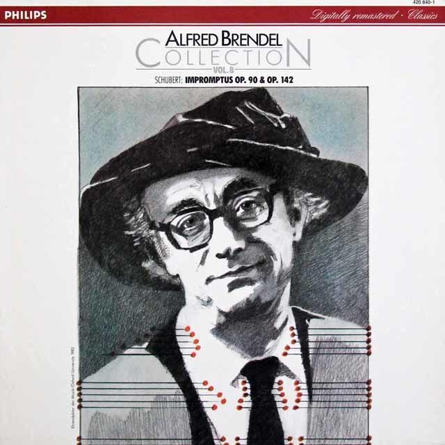 ブレンデル・コレクション第8巻 シューベルト/4つの即興曲D.899、D.935 独PHILIPS 3140 LP レコード