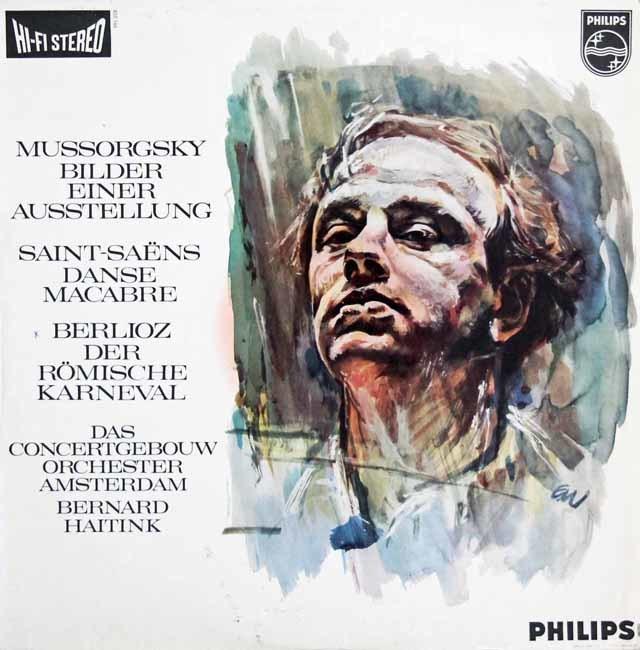 【オリジナル盤】 ハイティンクのムソルグスキー(ラヴェル編)/「展覧会の絵」ほか 蘭PHILIPS 3140 LP レコード