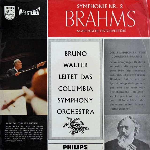 【オリジナル盤】 ワルターのブラームス/交響曲第2番 蘭PHILIPS 3140 LP レコード