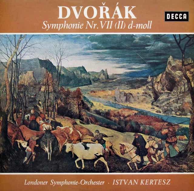 ケルテスのドヴォルザーク/交響曲第7番 独DECCA 3140 LP レコード