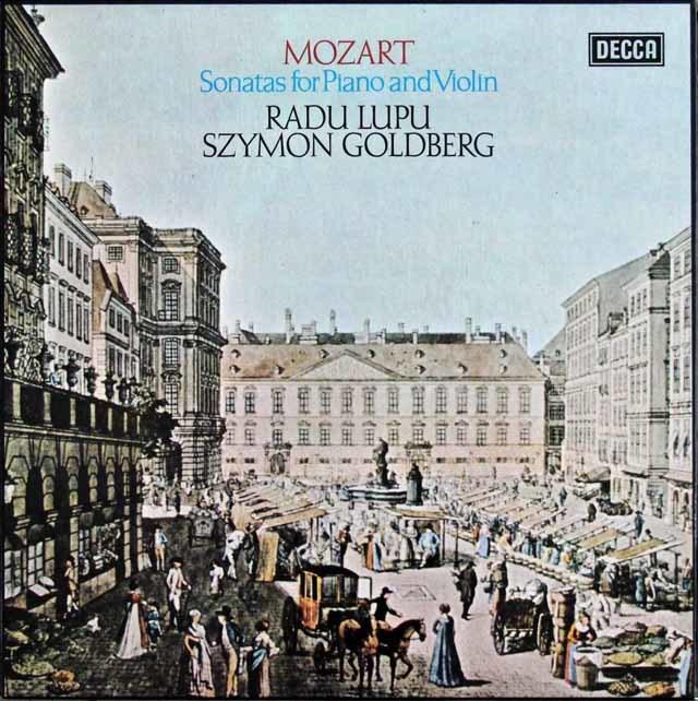ゴールドベルク&ルプーのモーツァルト/ヴァイオリンソナタ集 蘭DECCA 3140 LP レコード