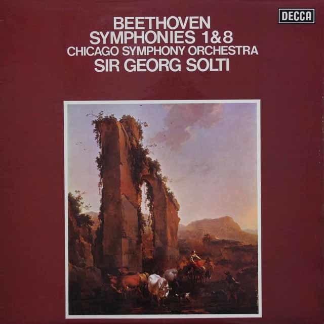 【オリジナル盤】 ショルティのベートーヴェン/交響曲第1番、第8番 英DECCA 3140 LP レコード