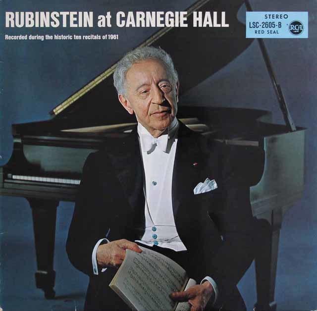 ルービンシュタインの「カーネギーホール・リサイタル 1961」 独RCA 3140 LP レコード